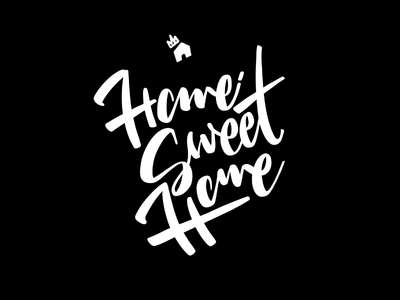 Home Sweet Home typography type procreate lettering hand lettering