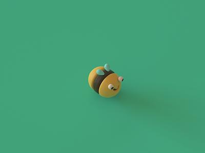 Bee character design cinema4d 3d illustrator 3d