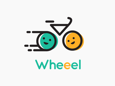Wheeel vector bicycle logo