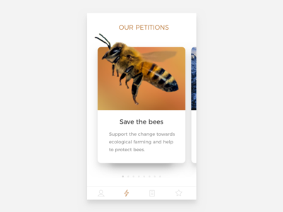 Save the bees mobile bees card ui