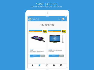 Savor - iPad App - My Offers
