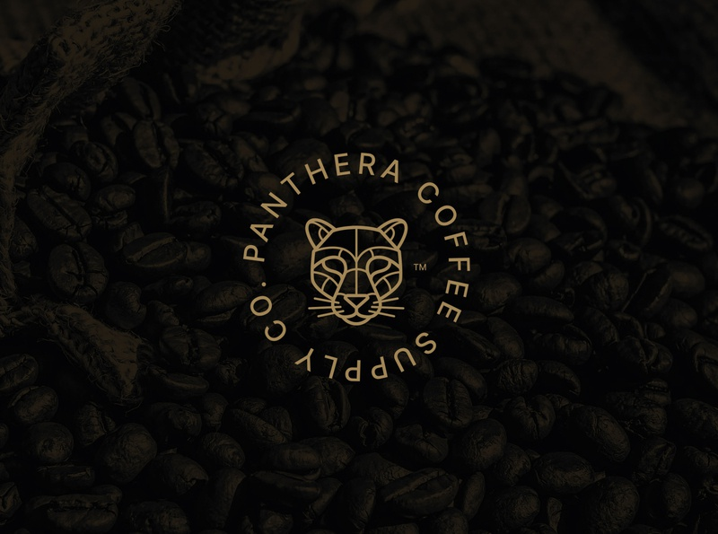 Panthera Coffee Supply Co.  2020 coffee branding coffee brand coffee graphic design illustration design logo packaging brand design brand identity branding vector