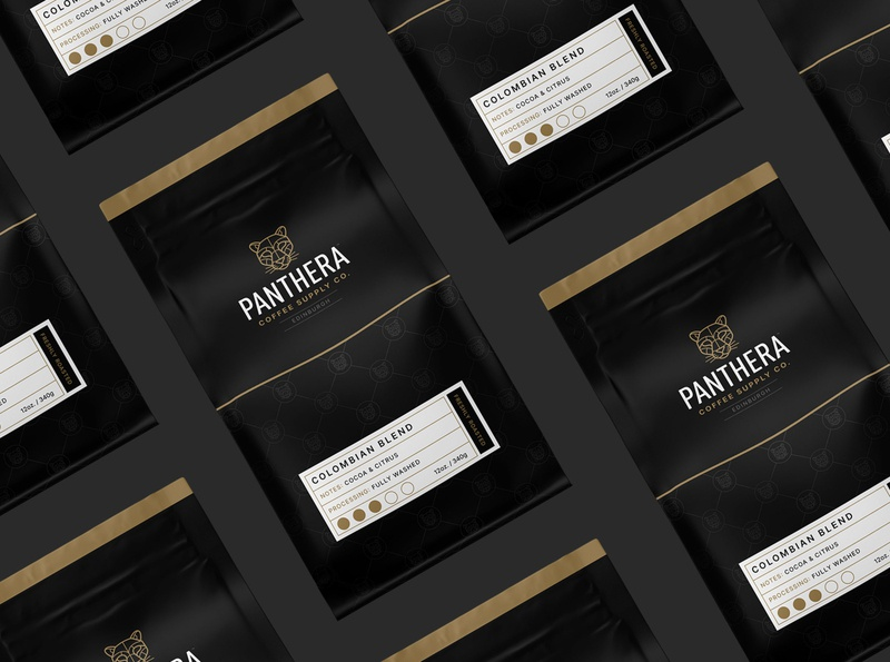 Panthera Coffee Supply Co.  2020 coffee design coffee brand coffee packaging brand identity brand design branding graphic design illustration vector design