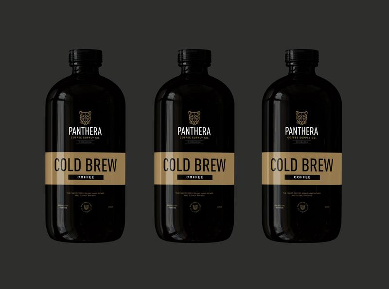 Panthera Coffee Supply Co.  2020 cold brew coffee coldbrew coffee branding coffee brand coffee packaging brand identity branding brand design art graphic design illustration vector design