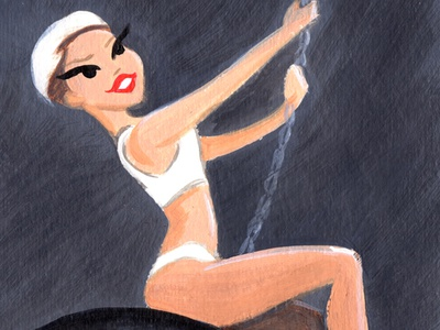 Miley Cyrus Wrecking Ball Original Painting