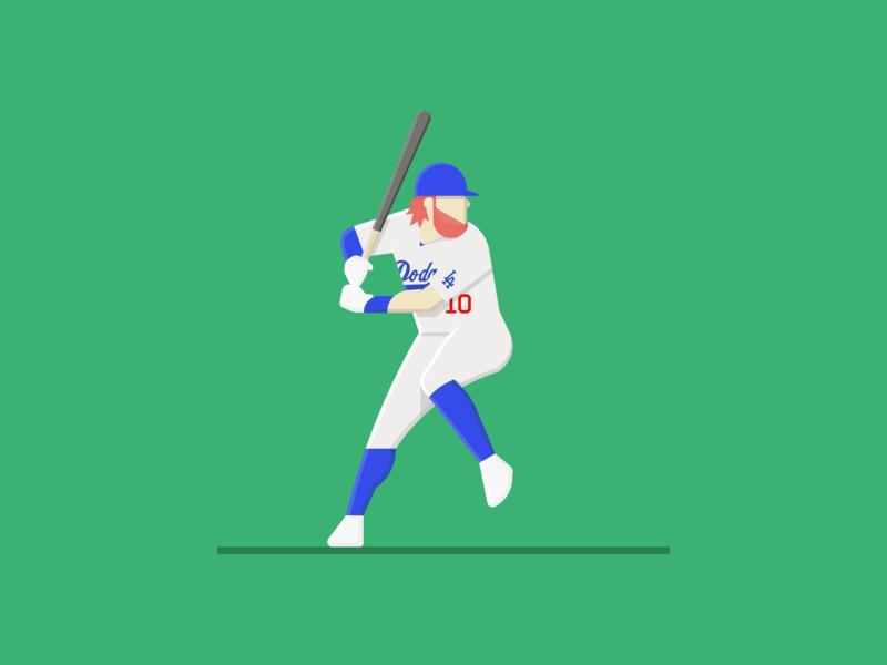 Justin Turner justinturner baseball mlb la dodgers illustration
