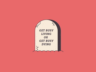 Get busy wip stone grave