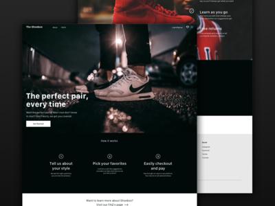 Nike Page Mock shoes website machine learning nike web landing page