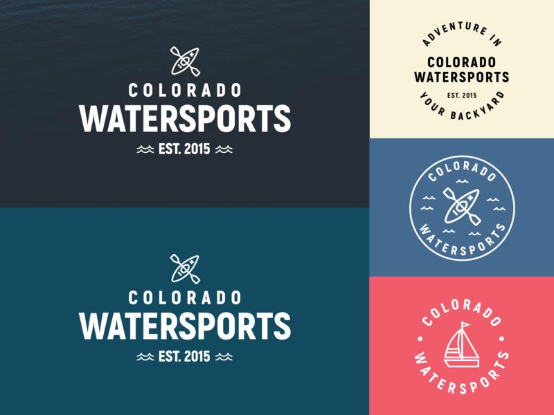Colorado Watersports colorado watersports icon logo branding illustration