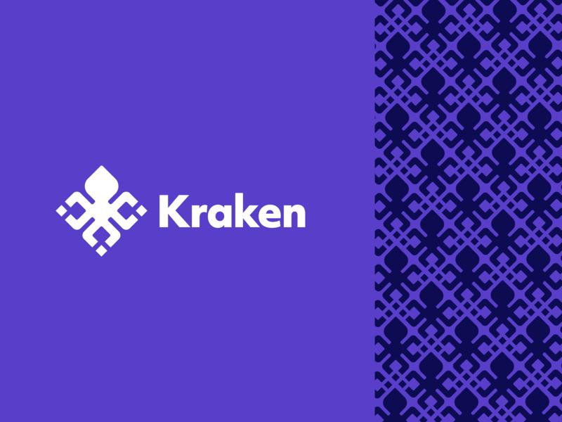 Kraken Exchange Redesign mark blockchain squid logo branding rebrand crypto kraken