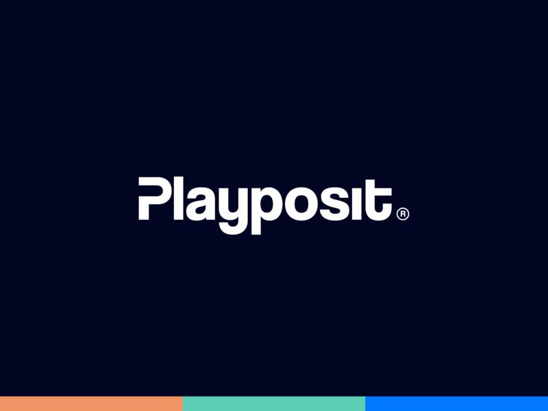 Playposit Rebrand playposit word mark typography web logo branding