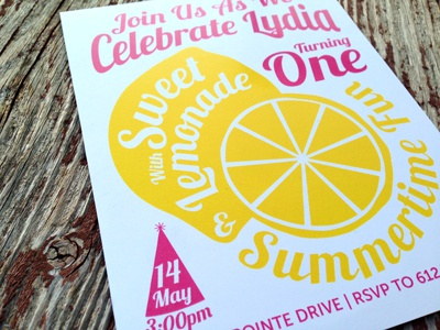 Birthday Invite first birthday lemonade graphic birthday invite print