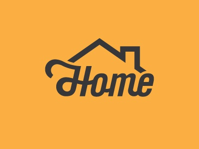 Home lettering icon typoraphy font type home logo
