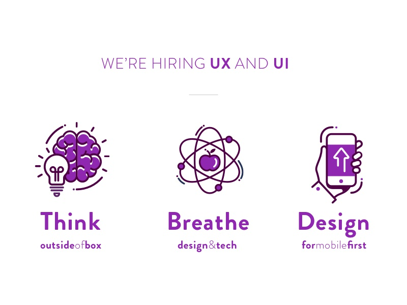 Hiring UX and UI Designers - Join the OLX Brazil Design Team brazil icons app mobile illustration vector visual ux ui position hire hiring