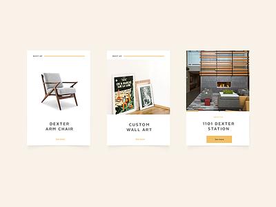 Grayscale Design UI cards web design architecture design ui