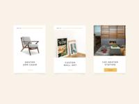 Grayscale Design UI cards