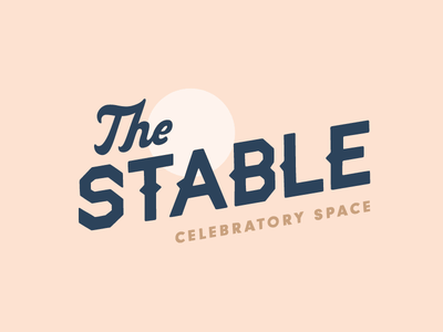 The Stable type-only logo hand drawn script moon typography design logo