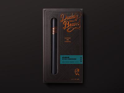 Daddy Gray Beard Packaging diecut box spot gloss smoke animal bison packaging copper foil black cannabis