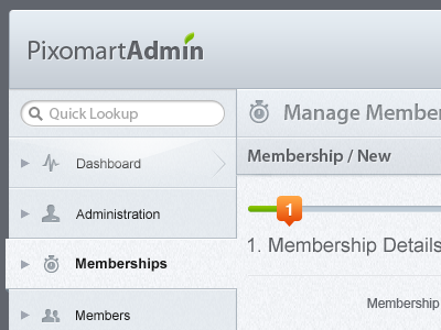 PixoMart Admin Design admin control panel backend minimal