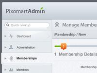 PixoMart Admin Design