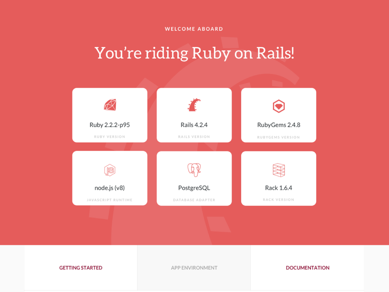 WIP Rails Default Page default page open source ruby on rails rails ruby