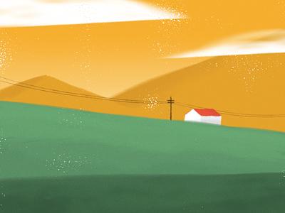 House landscape graphic creative texture design illustration