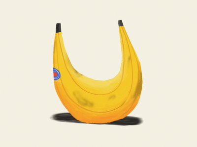 Banana banana fruit graphic creative design texture illustration