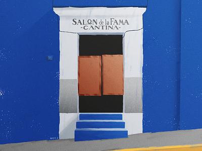 Cantina oaxaca mexico creative graphic texture design illustration