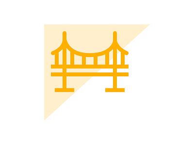 Bridge Icon yellow icon line bridge
