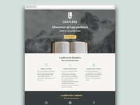 Leafless Landing Page
