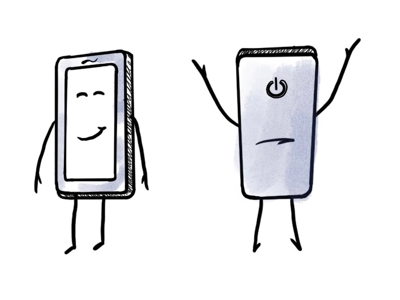 Mobile guy phone illustration phone character mobile phone