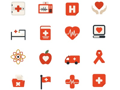Medical Icons icon health heart blood social doctor notification medical hospital