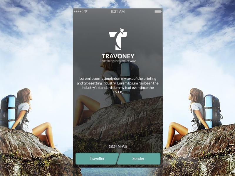 Travoney (Earn money with travel , Market place app)  payment integration login screen travel app utility app social app marketplace app on demand app