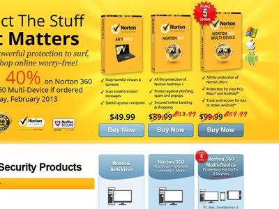 Norton Antivirus Multiple Products