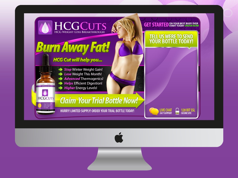 HCG CUTS mobile app design call to action lead generation lead capture lead page affiliate marketing landing page design landing page landing designs