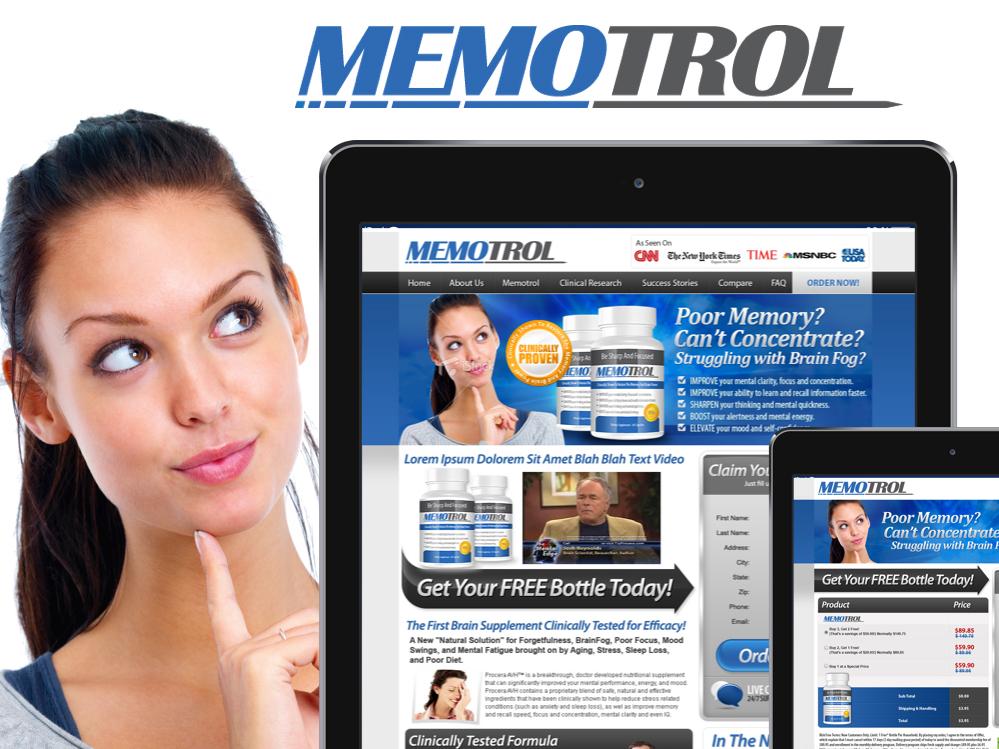 MEMOTROL product mobile app design lead capture lead page affiliate marketing designs landing landing page landing designs