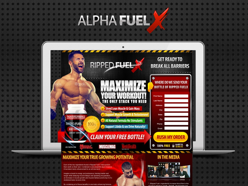 Ripped Fuel X mobile app design lead generation lead capture lead page lead affiliate marketing landing page design landing page landing designs