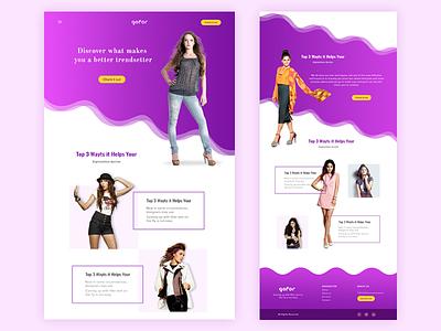 fashion site website purple photography marketing layout landing flat fashion