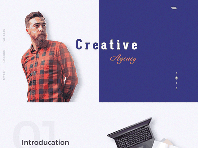 Creative agency site website ux ui product minimal page landing gradient design creative colorful agency