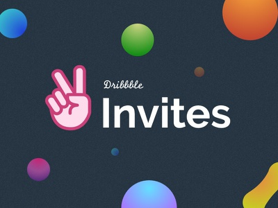 Invite Shot black noise invites illustrations gradient design dark circles