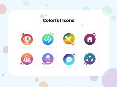 Gradient Icons web mobile app ball bat connect home team chat worldcup icon design illustration ui ux icongraphy colorfull gradient icons