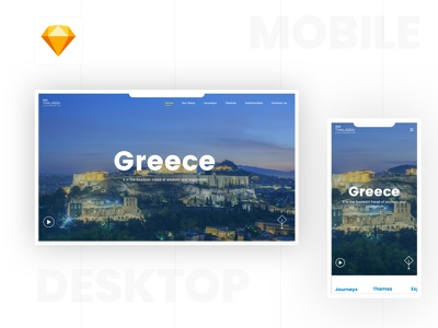 Tourist Responsive Website app web landing trip greece white user interface visual design ux ui mobile app website responsive responsive website design tourism tours tourist