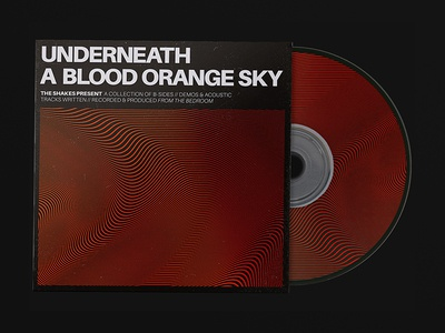 Underneath a Blood Orange Sky Single Cover Art vector gradient illustration type layout editorial print digital typography design