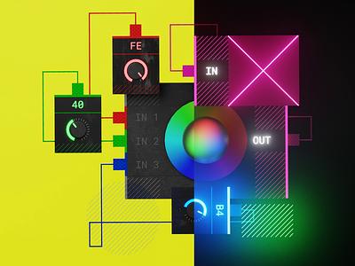 Figma DIY: Building a color system plugin volumetric animation light theme dark theme blender color system 3d illustration figma