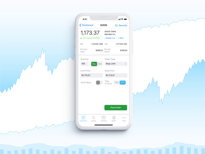 Cloudable Mobile Trading Platform | Place The Order