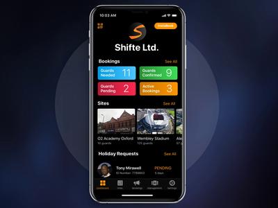 Shifte App | Company Dashboard