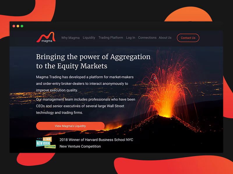 Magma website dribbble