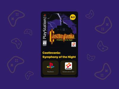 Games Wiki App Concept mobile design principle animation dark theme castlevania ios mobile app games