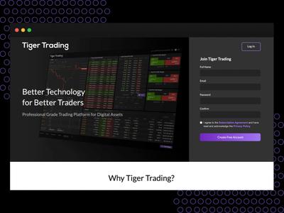 Tiger Trading   Product Website principle design cryptocurrency crypto violet minimalism dark ui web app trading website design website
