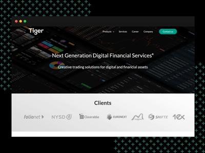 Tiger LLC   Main Website company portfolio portfolio site minimalism company product design web website design website trading